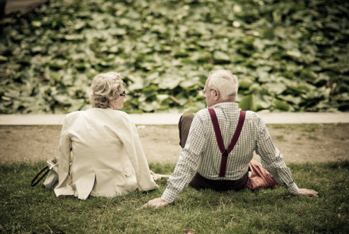 Old Couple Sat Down